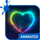 Neon Pulse Animated Keyboard + Live Wallpaper