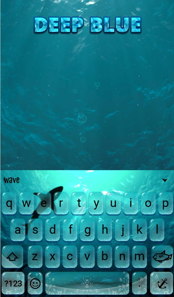 Deep Blue Animated Keyboard Live Wallpaper For Android Apk Download