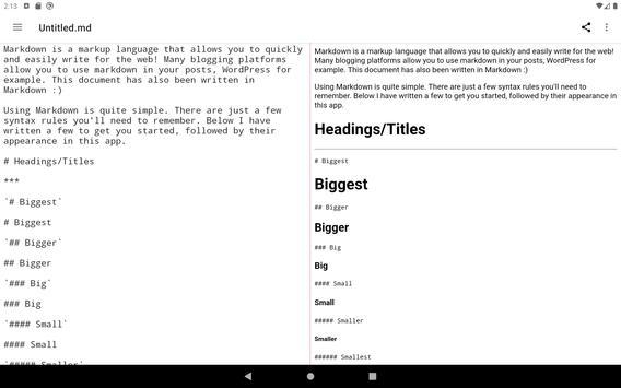 Simple Markdown capture d'écran 6