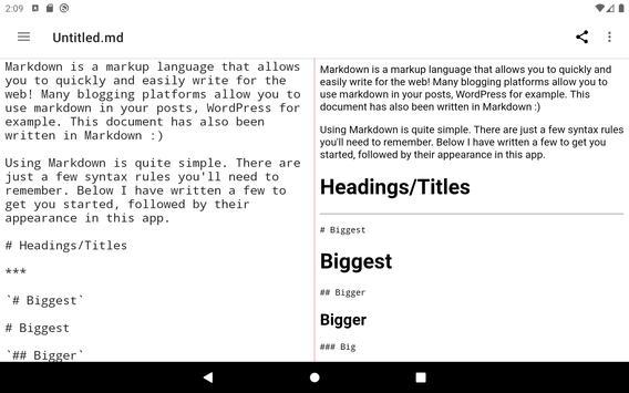 Simple Markdown capture d'écran 12