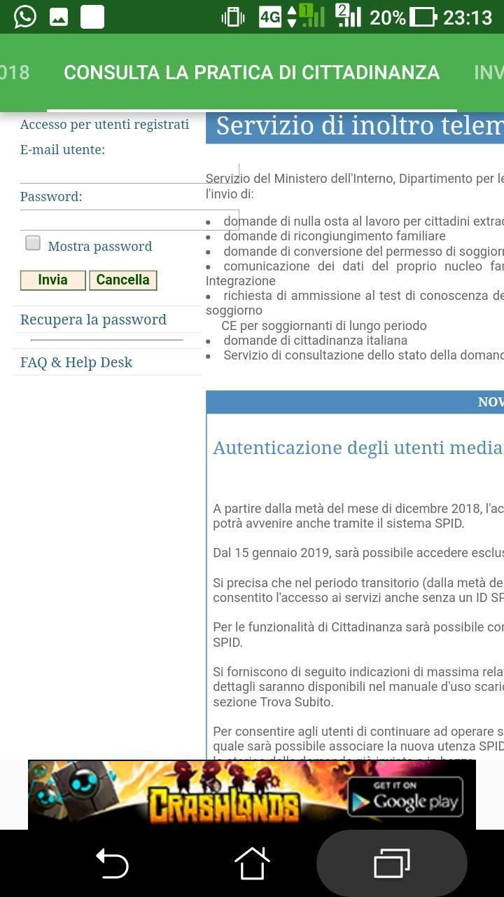 cittadinanza ita. e permesso di soggiorno for Android - APK ...