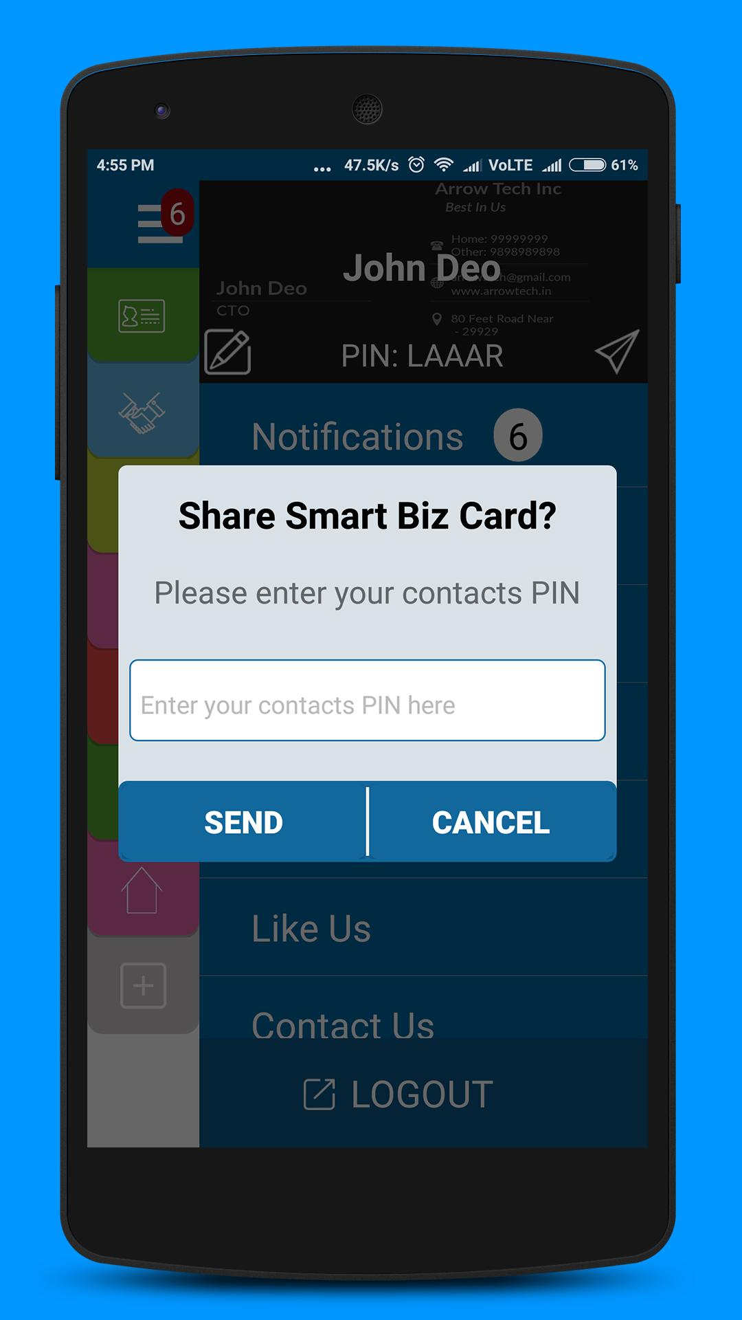 Smart Biz Cards - SBC poster