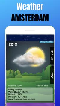 Weather Amsterdam - Weather channel app poster