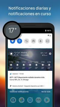Tiempo y widget - Weawow captura de pantalla 5