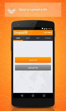 Dropsend Android poster