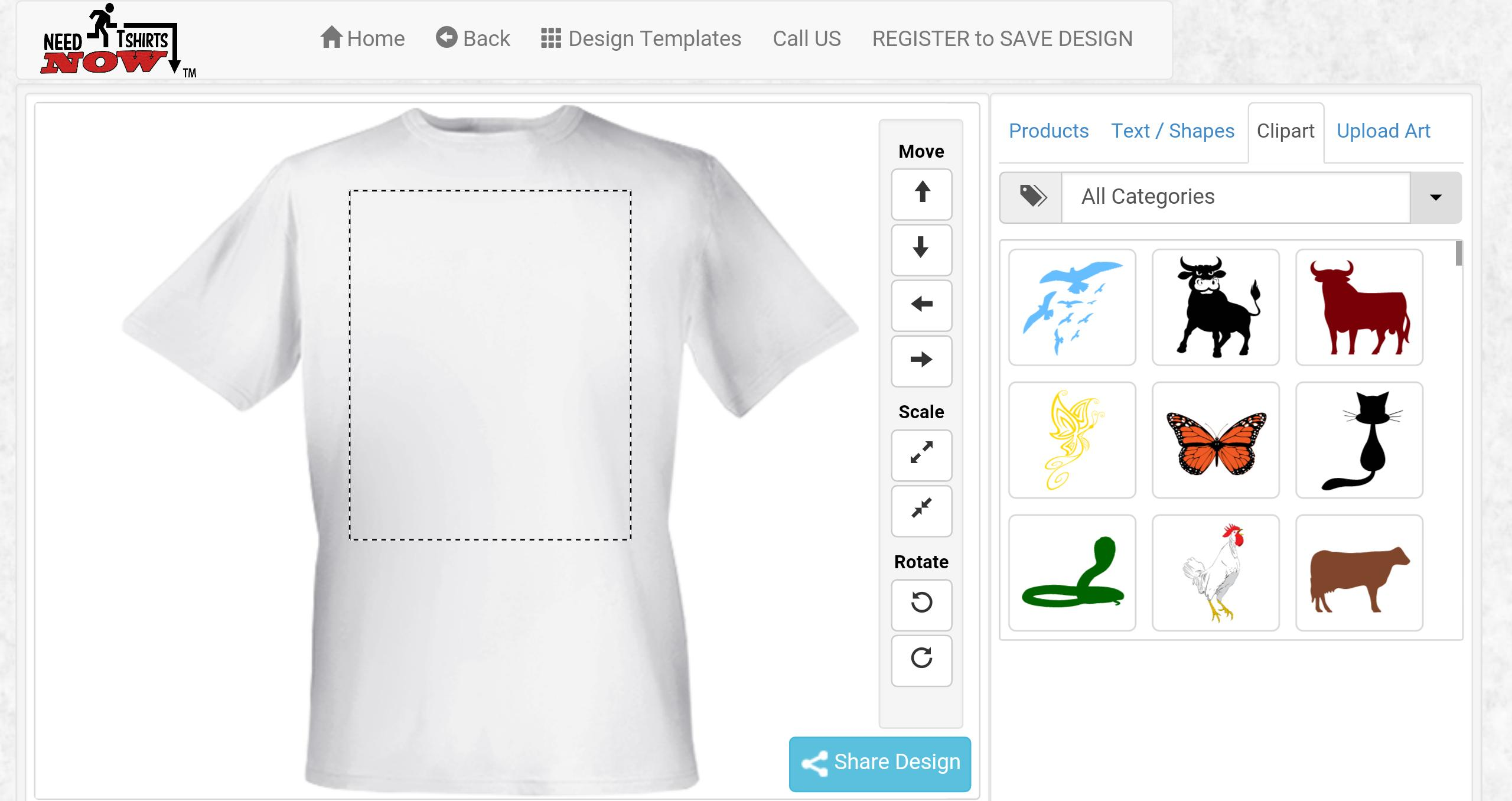 designa t shirt