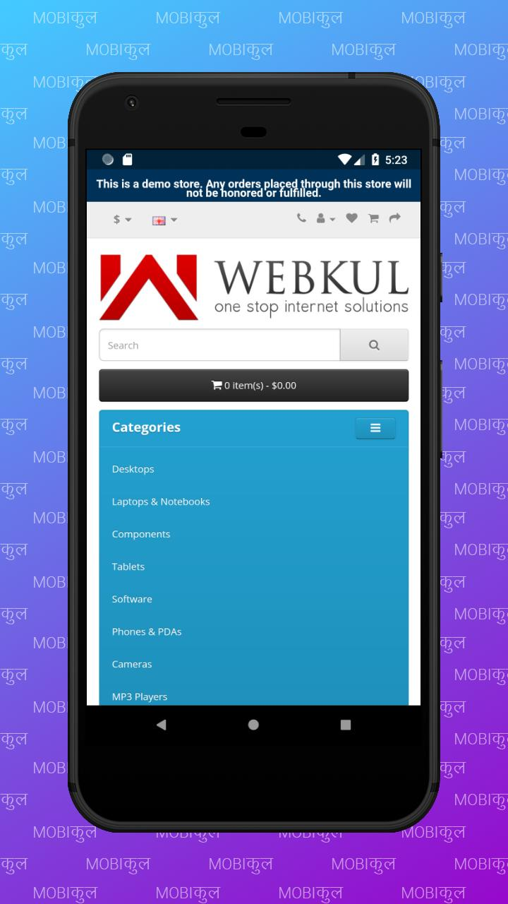 Opencart Hybrid Mobile Application for Android - APK Download