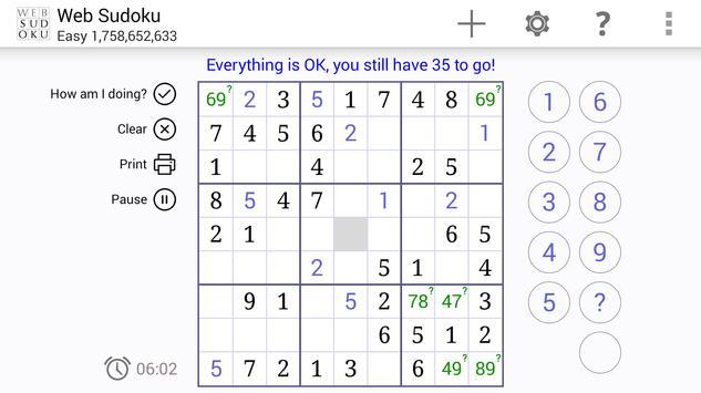 Web Sudoku スクリーンショット 10