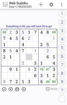 Web Sudoku スクリーンショット 2