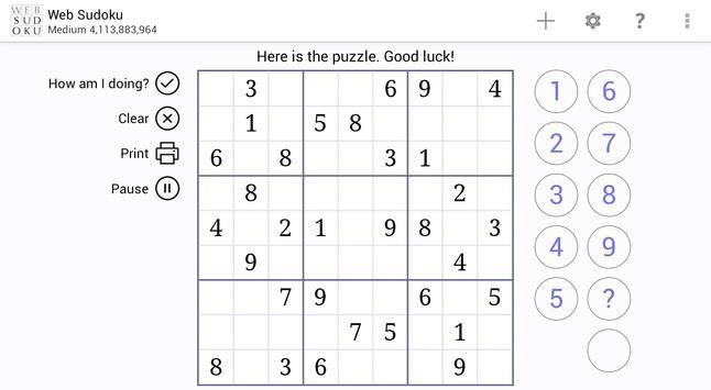 Web Sudoku スクリーンショット 5