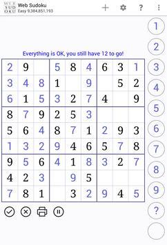 Web Sudoku スクリーンショット 7