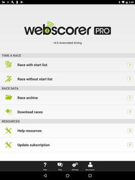 Webscorer screenshot 5