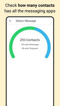 Direct Message, send Whats & Telegram in one app imagem de tela 1