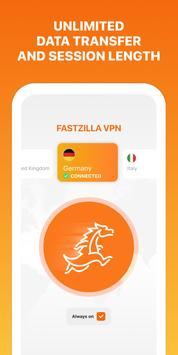 Fastzilla Unlimited VPN & Proxy screenshot 1