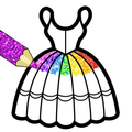 Glitter Dresses Coloring Book For Girls