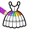 Glitter Dresses Coloring Book For Kids icon
