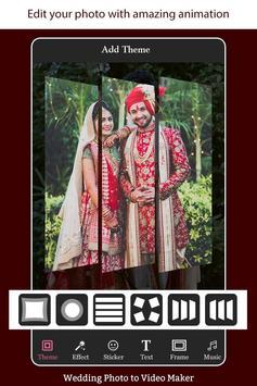 Wedding Photo to Video Maker with Music screenshot 1