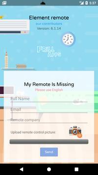 Remote Control For Element TV screenshot 4