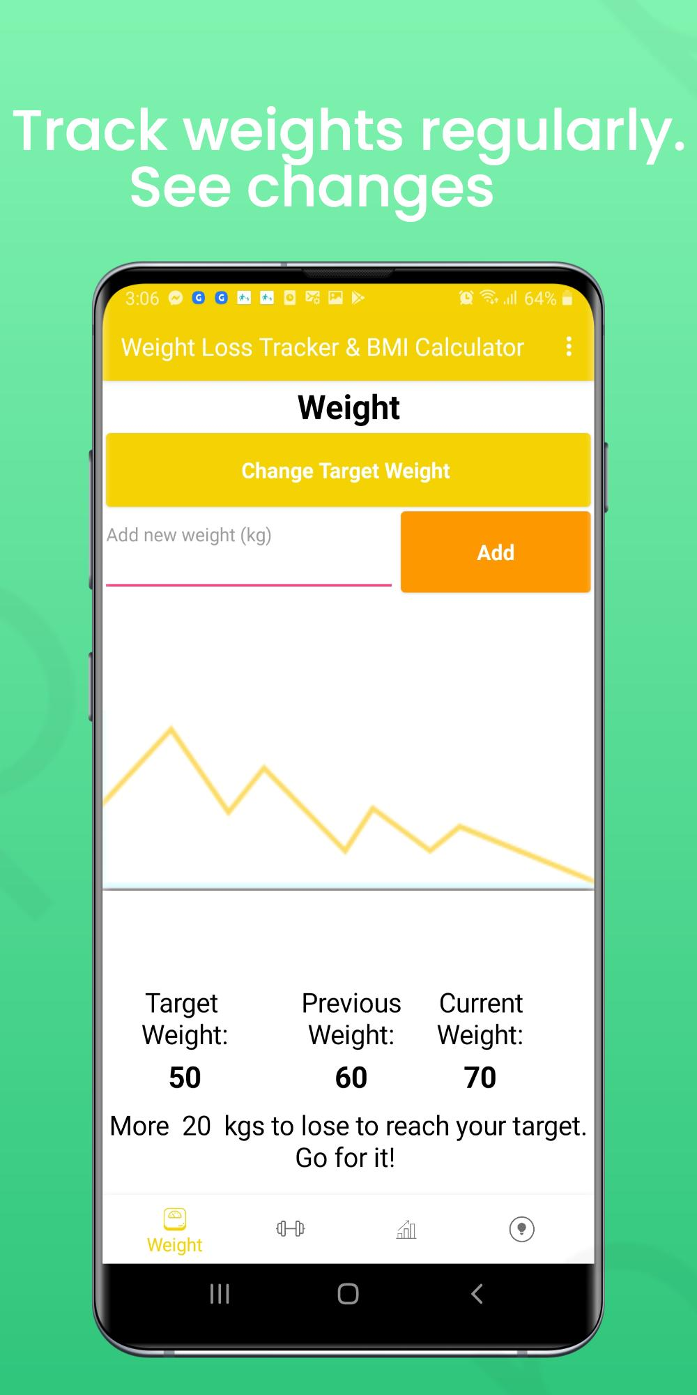 Weight Loss Tracker & BMI Calculator   Weight App for Android ...