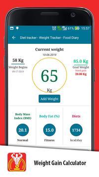 Weight Gain Calculator screenshot 1