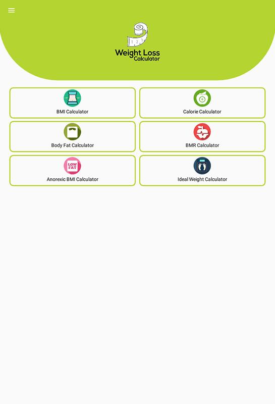 Weight Loss Calculator for Android - APK Download