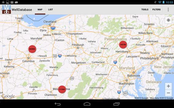 Well Database screenshot 14