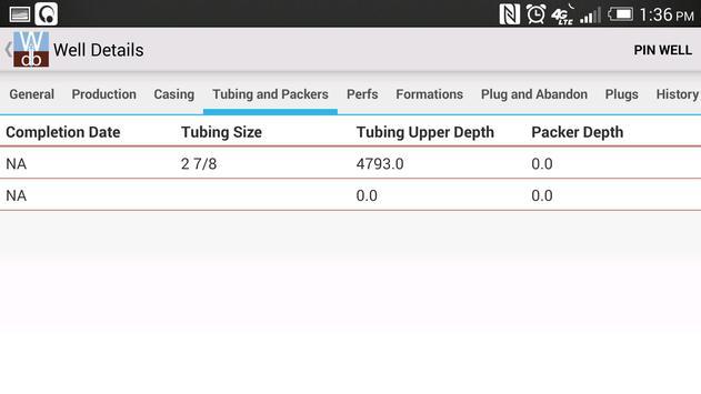 Well Database screenshot 5