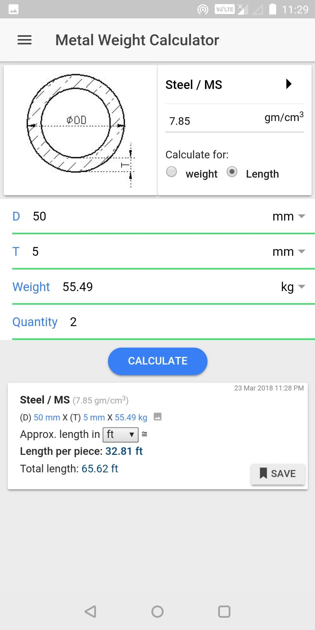 Metal Weight Calculator Metallo For Android Apk Download