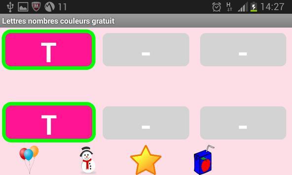Lettres Nombres Gratuit screenshot 5