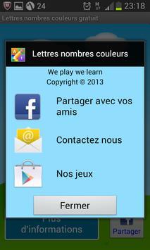 Lettres Nombres Gratuit screenshot 7