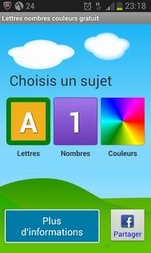 Lettres Nombres Gratuit poster