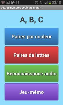 Lettres Nombres Gratuit screenshot 1
