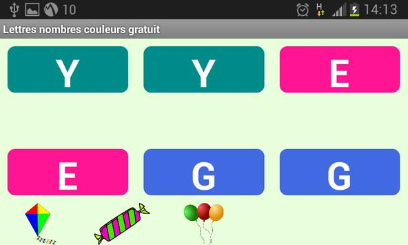 Lettres Nombres Gratuit screenshot 2