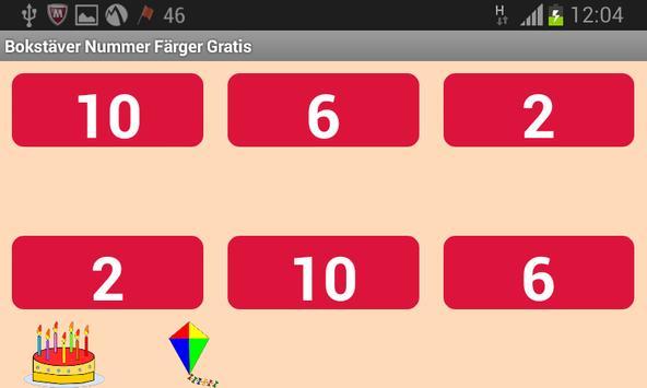 Bokstäver Nummer Färger Gratis screenshot 3