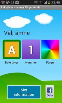 Bokstäver Nummer Färger Gratis poster