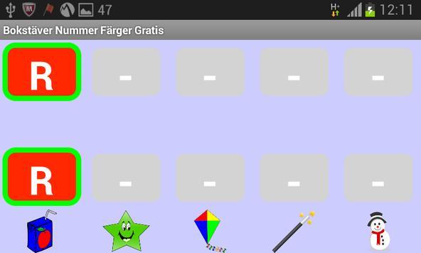 Bokstäver Nummer Färger Gratis screenshot 13