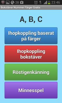 Bokstäver Nummer Färger Gratis screenshot 1