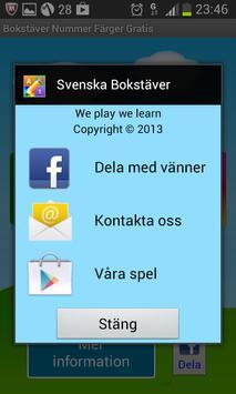 Bokstäver Nummer Färger Gratis screenshot 23