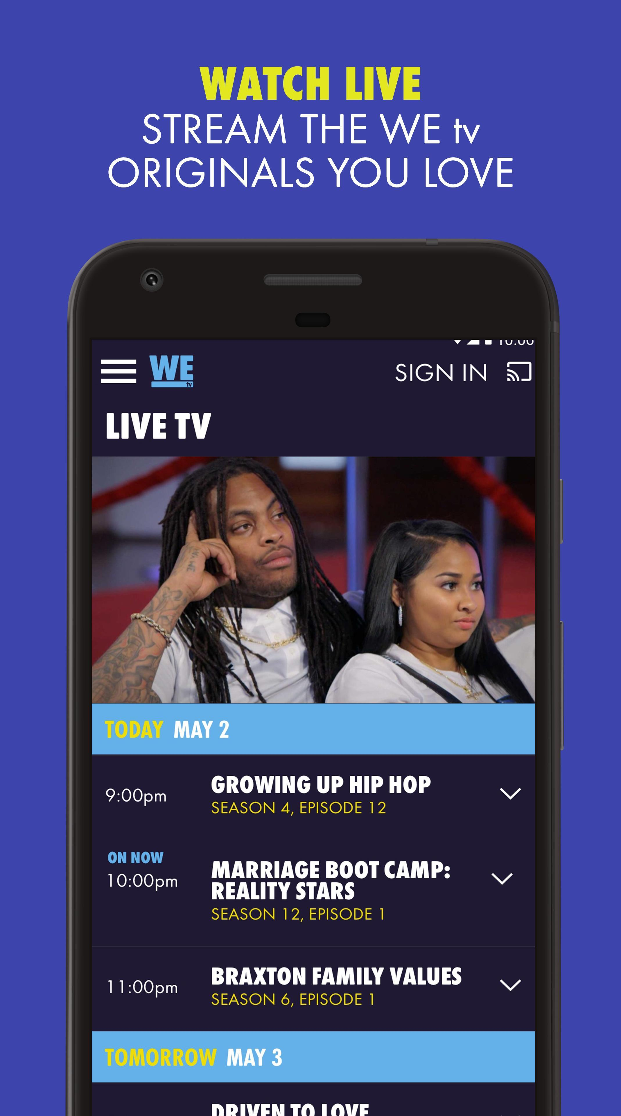 WE tv cho Android - Tải về APK