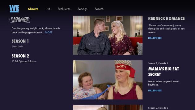WE tv स्क्रीनशॉट 1