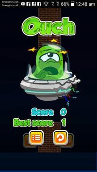 flying alien poster