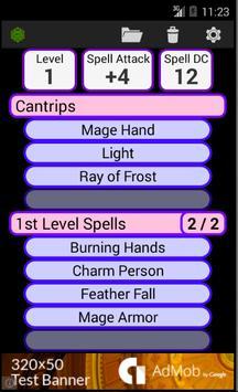 Fifth Edition Character Sheet screenshot 3