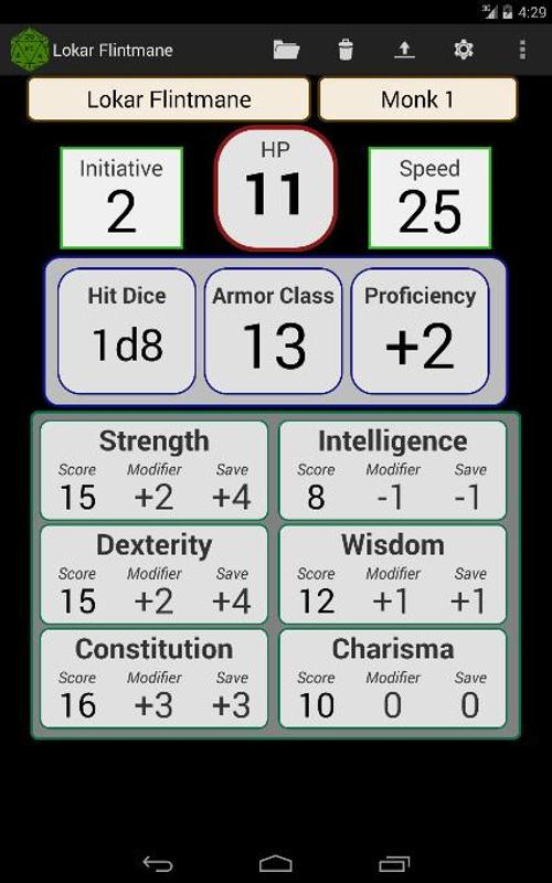 fifth edition character sheet for android apk download