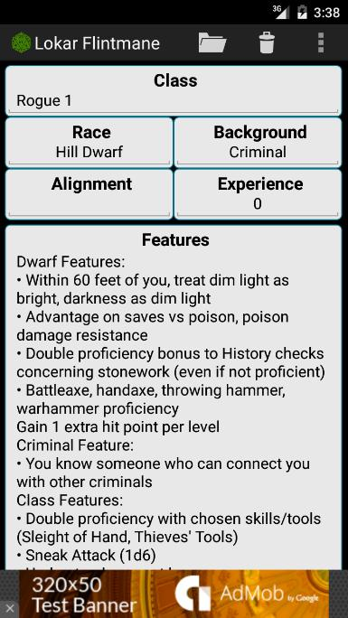Fifth Edition Character Sheet for Android - APK Download