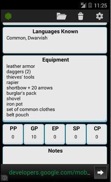 Fifth Edition Character Sheet screenshot 5