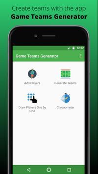 Game Teams Generator poster