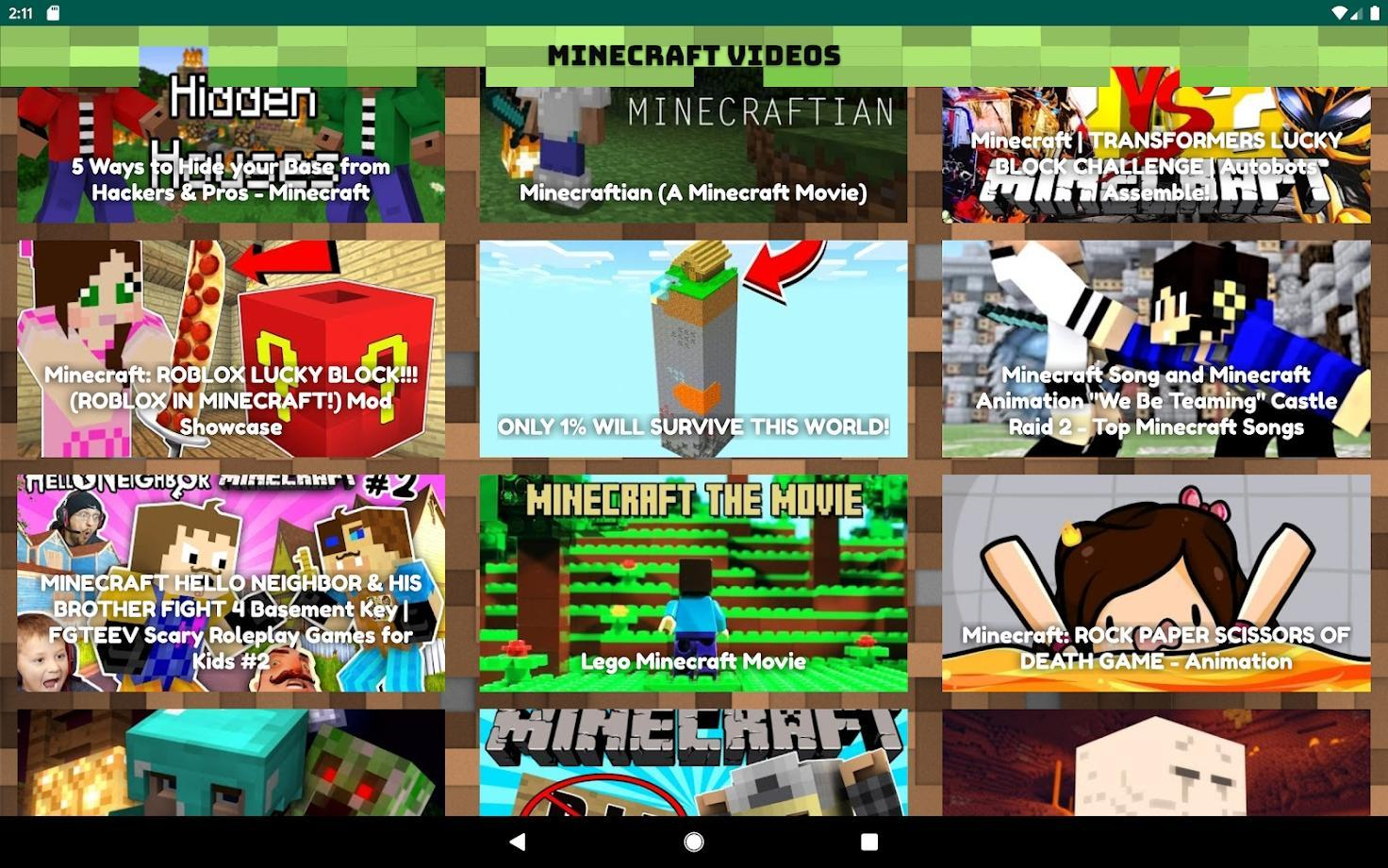 Fgteev Lucky Block Roblox Free Minecraft Videos Education And Tricks For Android Apk Download