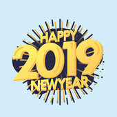 New Year Stickers 2019 For WhatsApp - WAStickerApp icon