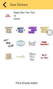 New Year Stickers 2019 For WhatsApp - WAStickerApp screenshot 1