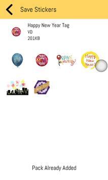New Year Stickers 2019 For WhatsApp - WAStickerApp screenshot 3